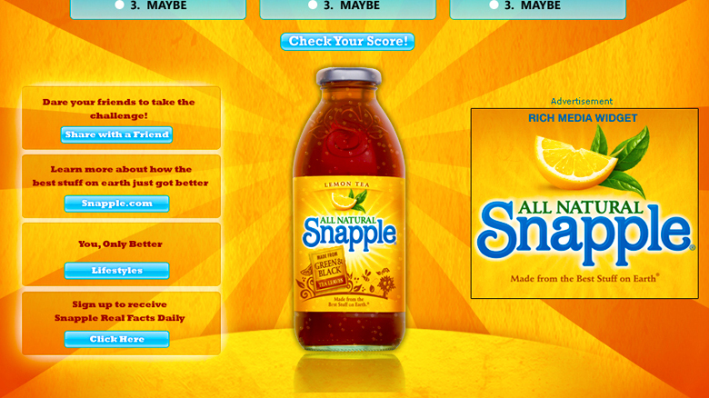 marketing and snapple quaker Quaker oats - snapple the success of its marketing quaker oats- gatorade/snapple background quaker oats acquired the gatorade brand in 1983 but.
